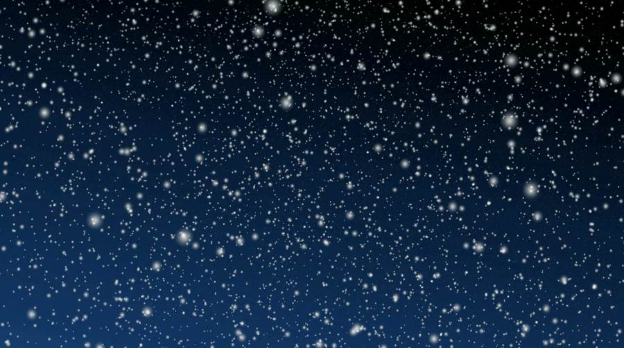 Snowy Night Looping Motion Background
