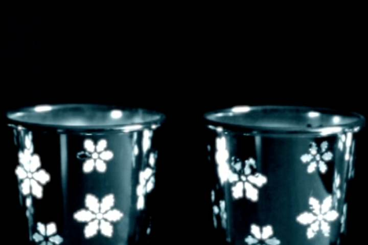 Snowflake Candles Blue Tint (lower third)