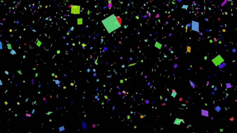 Looping Video Background of Confetti for New Year's