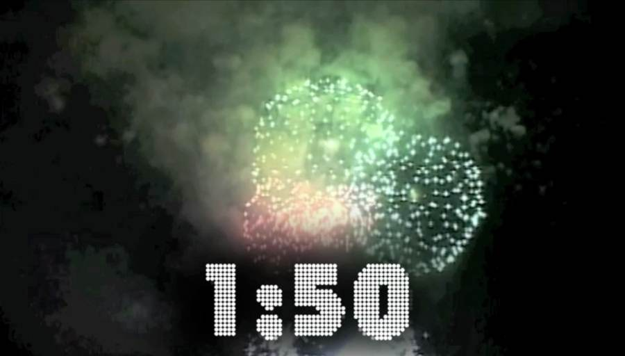 New Years Countdown Video With Fireworks