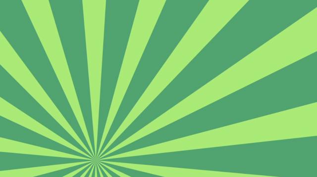 Light Green Dark Green Rotating Sunburst