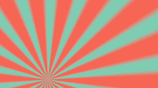 Free Download Rotating Teal and Orange Sunburst Rays