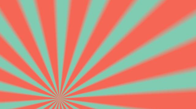 Free Download Rotating Teal and Orange Sunburst Rays