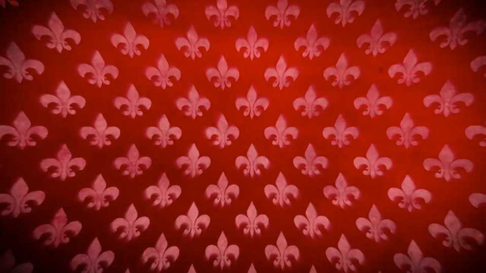 Moving Backgrounds Series – Deep Red Fleur-de-lys
