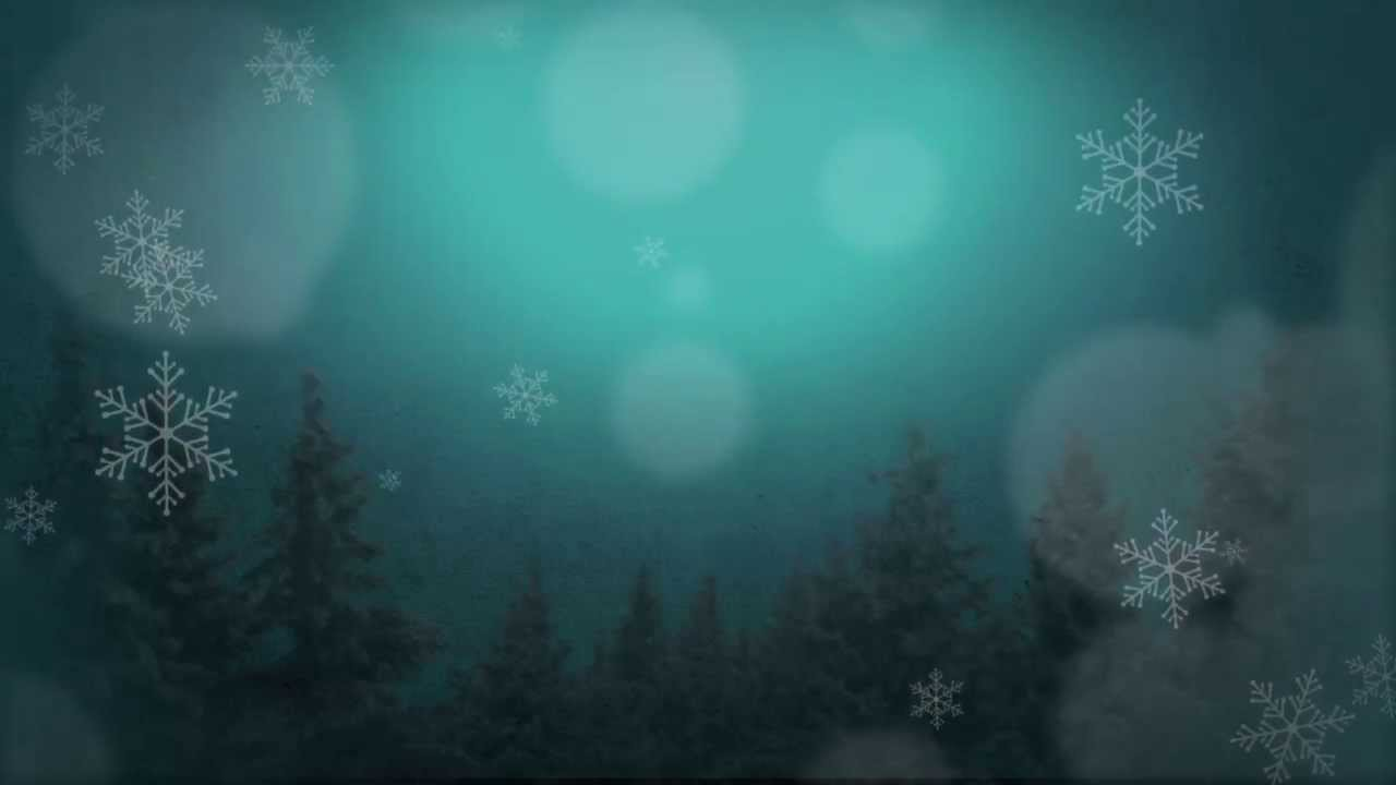 Blue Wintery Motion Background for Christmas Time