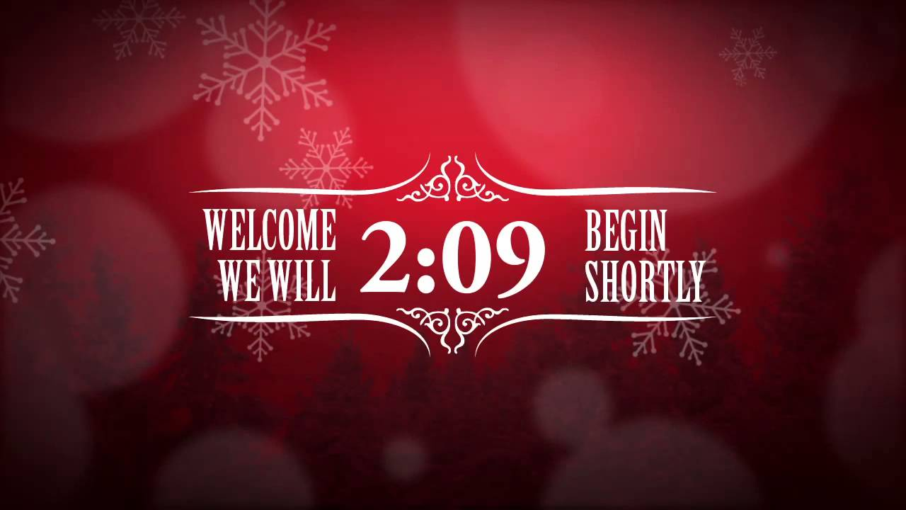 Christmas Event Countdown Video – Red Background