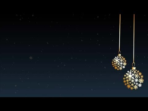 Gold Ornaments Snowflake Moving Background