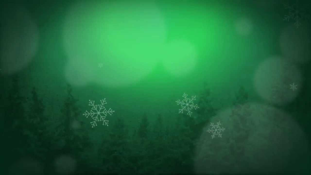 Green Winter Scene Motion Background