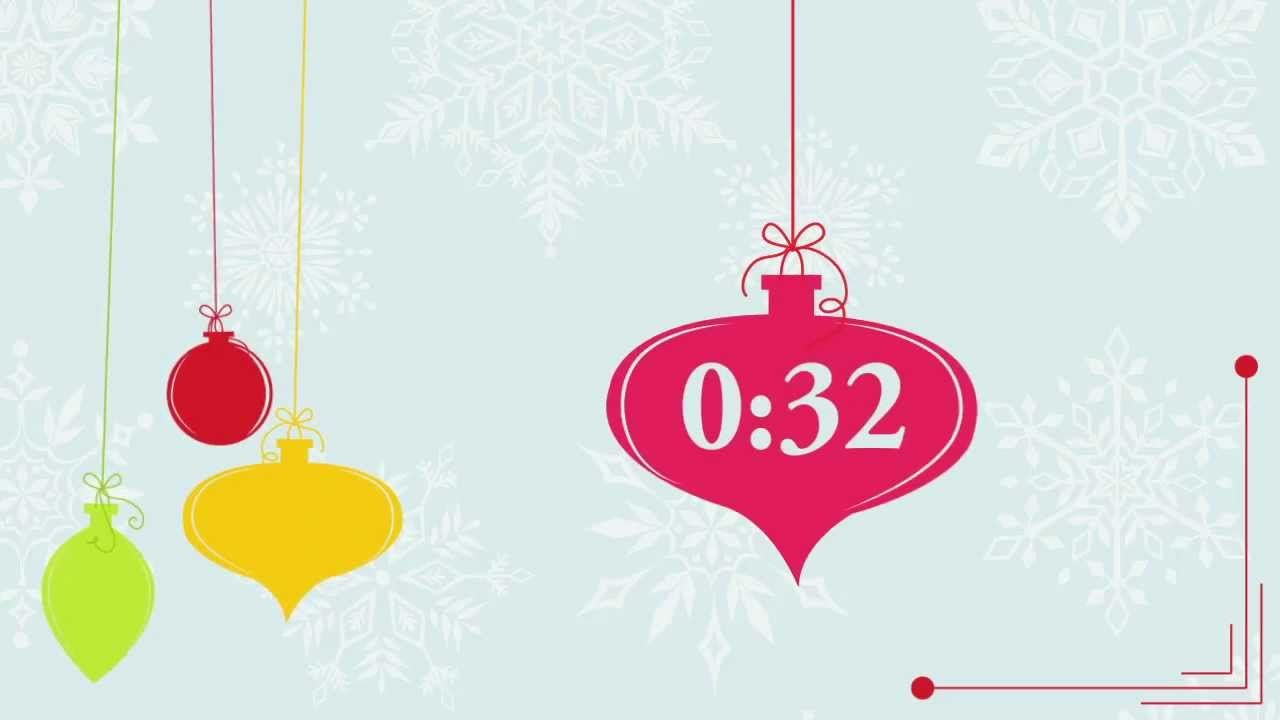 Retro Holiday Ornaments Free Countdown Video
