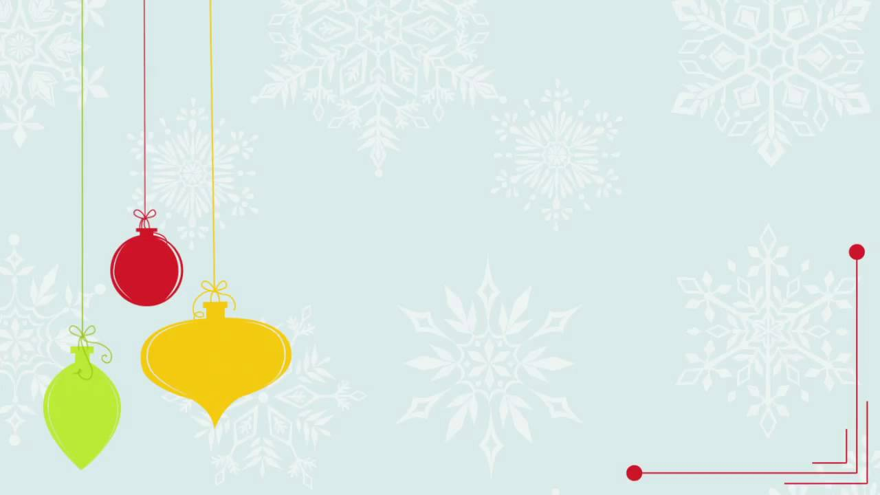 Retro Holiday Ornaments Free Moving Background