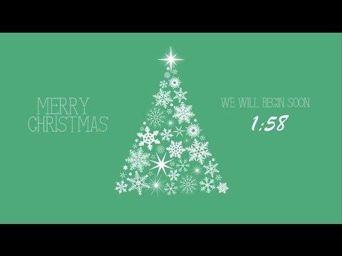 Snowflake Christmas Tree Countdown – Green