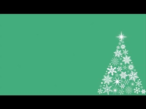 Snowflake Christmas Tree Motion Background – Green