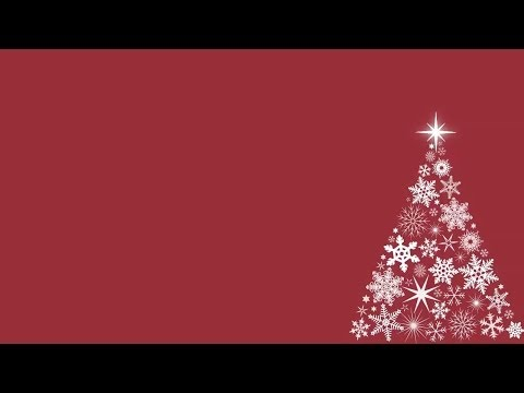 Snowflake Christmas Tree Motion Background – Red