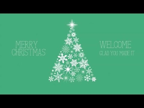 Snowflake Christmas Tree Welcome Graphic – Green