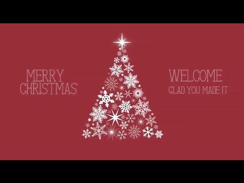 Snowflake Christmas Tree Welcome Graphic – Red