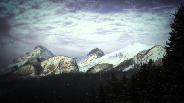 Snowy Mountain Motion Background