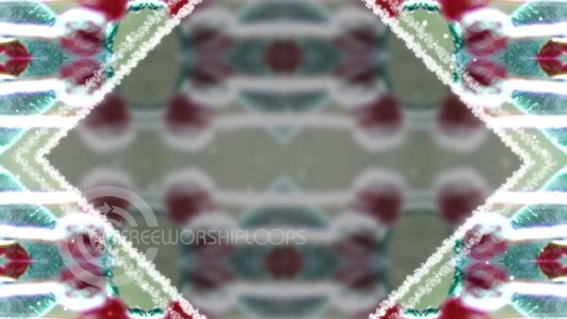 Winter Berries Kaleidoscope Background