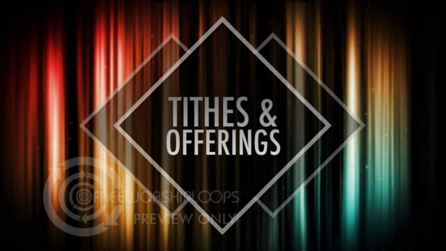 Colorful Light Lines Tithes & Offerings Bumper