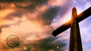 Cross and Sky Free Looping Video Background