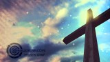 Cross and Sky Motion Background Cool Colors