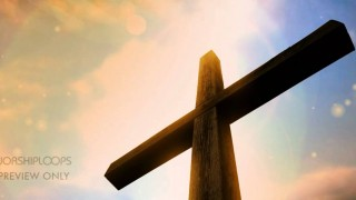 Cross and Sky Triple Wide Worship Media