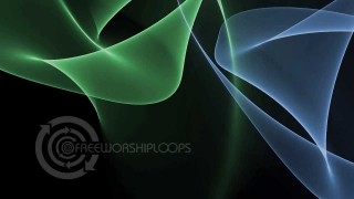 Ethereal Light Waves – Green and Blue