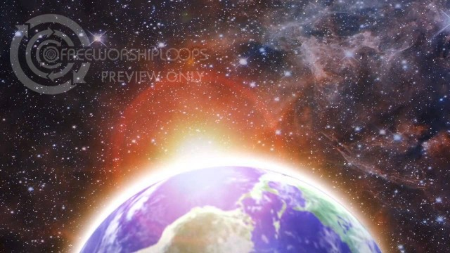 Rotating Earth Bottom of Frame Motion Background