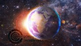 Rotating Earth Center Frame Moving Video Background