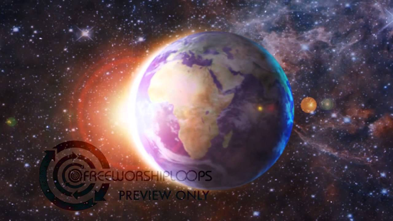 rotating earth center frame moving video background free worship loops - Moving Picture Frame