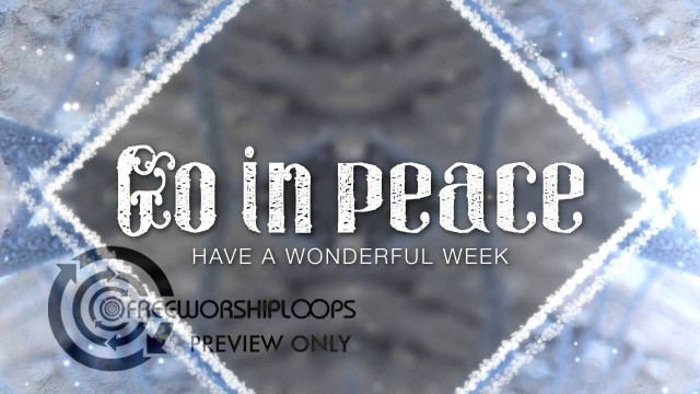 Winter Kaleidoscope Go In Peace Bumper Video
