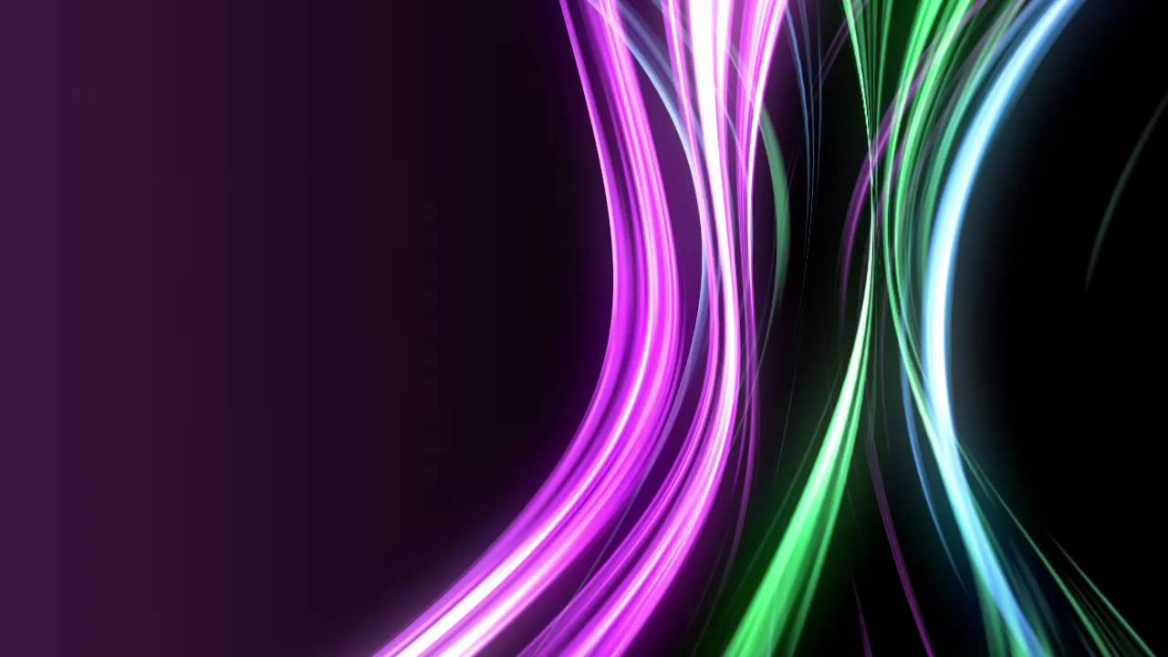 Purple Blue Green Neon Light Rays