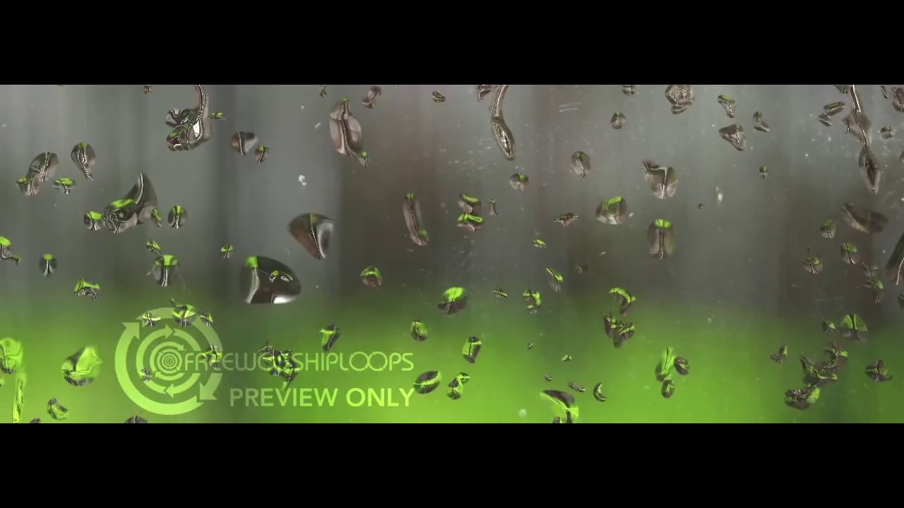 Rain Drops In A Forest For Environmental Projection